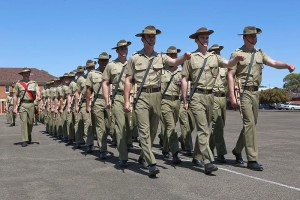 Soldiers from Charlie Company, 7RAR