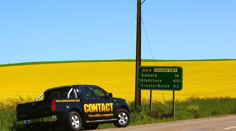 CONTACT Magazine's company car 'Bruce' on the road to South Australia. Photo by Brian Hartigan