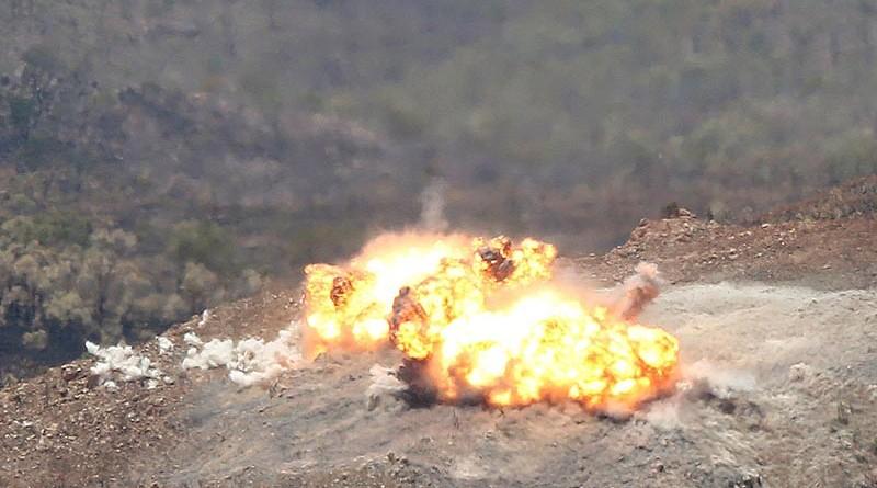 High explosives send shockwaves around High Range in Townsville during Exercise Black Dagger.