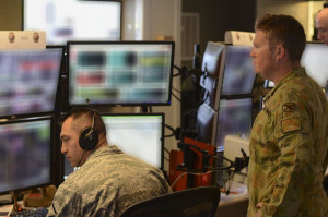 RAAF air-battle management specialists are embedded in the US Air Force's 727th Expeditionary Air Control Squadron, colloquially known as Kingpin. Photo by TSGT Frank Miller