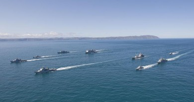 Navy fleet concentration in the Cook Strait.