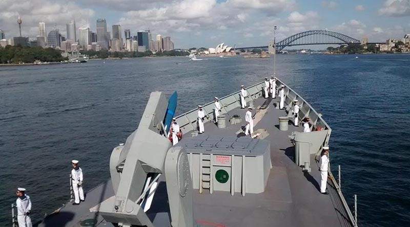 Photo courtesy HMAS Melbourne