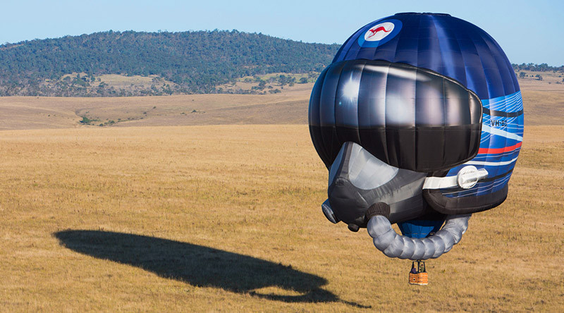 RAAF's new balloon. Photo by Leading Aircraftwoman Katharine Pearson