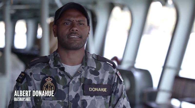 Seaman Albert Donahue. ADF photo