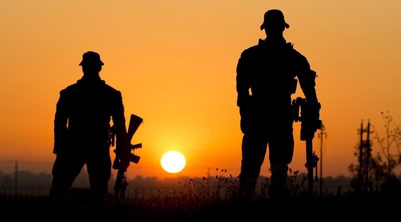 Australian Army snipers from Force Protection Company at the Taji Military Complex, Iraq. Photo by Corporal Jake Sims