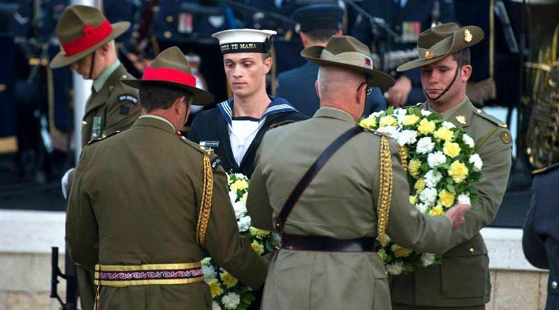 Anzac Day wreath laying. ADF file photo