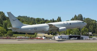 The first P-8A aircraft for the Royal Australian Air Force leaves Renton Field for Boeing Field in nearby Seattle, marking its transfer from Commercial Airplanes to Boeing Defense, Space and Security for final completion. Photo by Matthew B Thompson - Copyright @MBTPhoto 2016