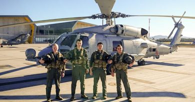 725 Squadron has achieved another milestone with the graduation of the first MH-60R Basic Operational Flight Training undertaken in Australia. Two aviation warfare officers and two sensor operators graduated from the course.