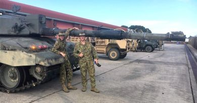 Cadet Warrant Officer Class 2 Brody Hornett and Cadet Lance Corporal Jayden Butler meet the Challenger 2 main battle tank of the British Army.