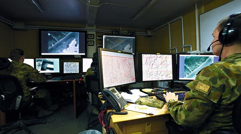 Heron mission control centre, Kandahar, Afghanistan. Photo by Brian Hartigan
