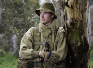 Australian Army Cadets trainee Cadet Corporal David Baker, from 504th Army Cadet Unit, during the annual cadet field exercise in Bindoon training area, north-east of Perth, on 1 October 2016.
