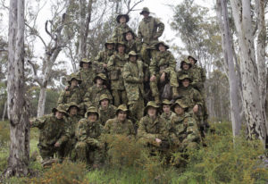 Australian Army Cadets trainees during the annual exercise in Bindoon training area, north-east of Perth, 1 October 2016.