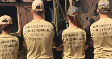 Exercise Stone Pillow 2016 –raising funds to assist homeless veterans.