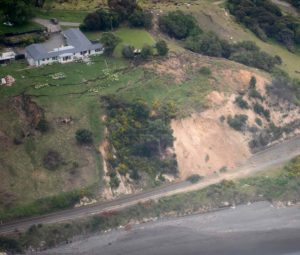 Earthquake damage as seen from a RNZAF Orion.