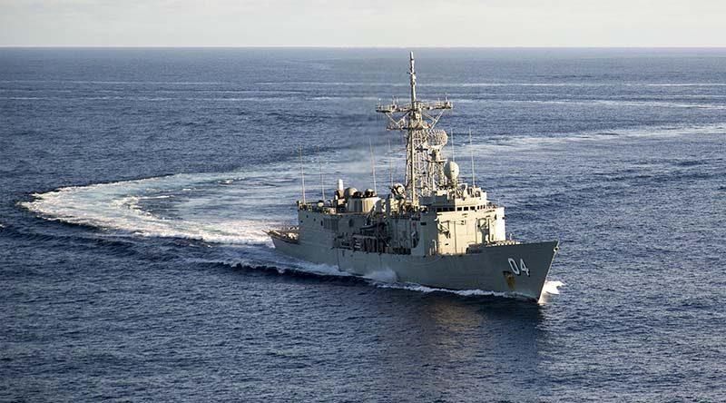 HMAS Darwin. Photo by Leading Seaman James Whittle.