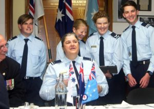 Banter, singing and various other entertainments made the 608 Squadron dining-in night one to remember.