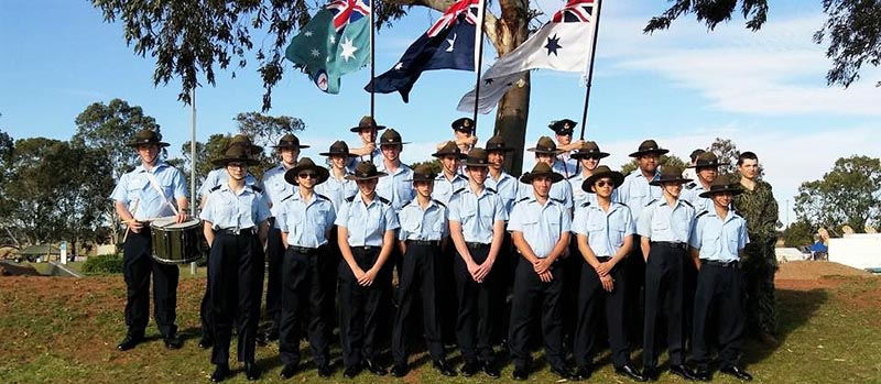This plus main photo: 622 Squadron Cadets march in the Murray Bridge Christmas Pageant.