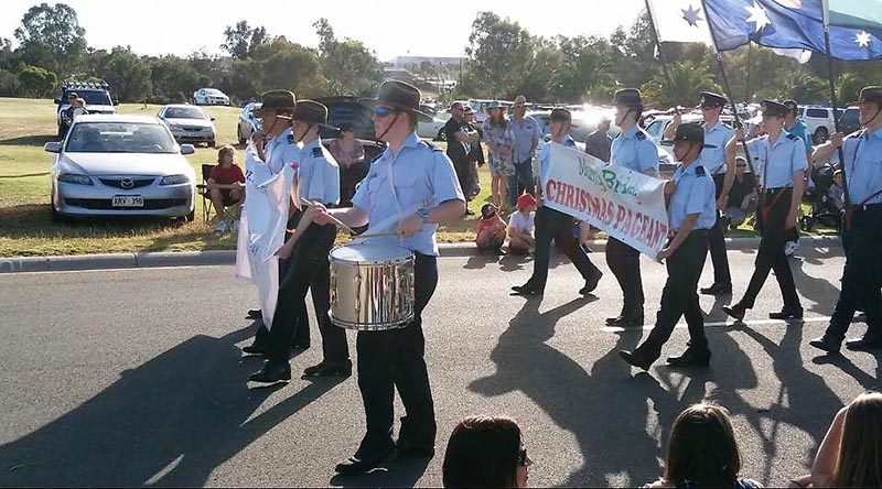 622 Squadron Cadets march in the Murray Bridge Christmas Pageant.