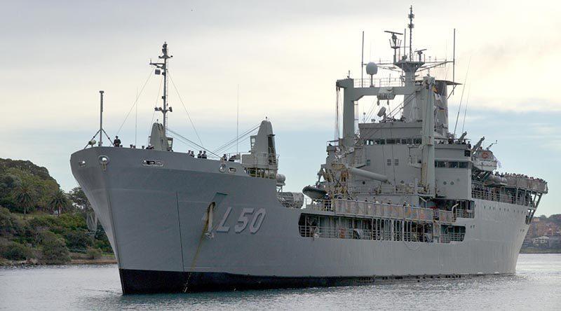 File photo – HMAS Tobruk. Photo by Able Seaman Helen Frank.
