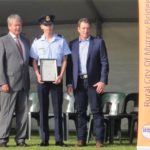 Young Citizen of the Year nominee CUO Samuel Mach (No 622 Squadron, AAFC) receives his certificate at the Murray Bridge Australia Day Ceremony.