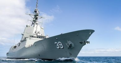 AWD Hobart on initial sea trials, 2016. Photo courtesy the AWD Alliance.