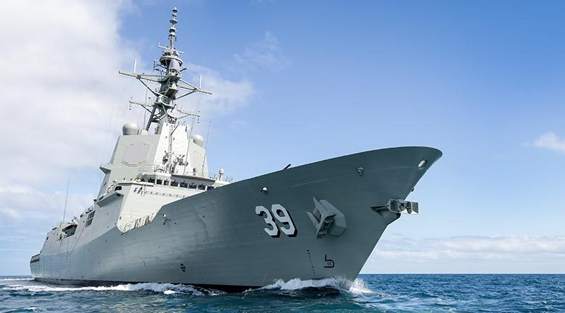 HMAS Hobart's Aegis Combat System 'light off'