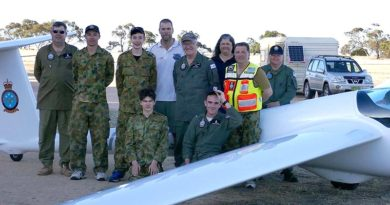 Cadets and staff of the December Gliding Camp at Balaklava