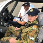 Cadet Timothy Sorensen from Risdon Park in Port Pirie participates in a Pilot Experience Flight (PEX).