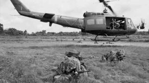 One of thousands of photos taken by Billy Cunneen in Vietnam – 1966, a US Army Iroquois takes off, after dropping off soldiers from 6RAR for a patrol. Click to enlarge.