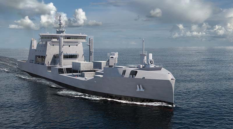 Artist's impression of the yet-to-be-built HMNZS Aotearoa. Supplied by NZDF.