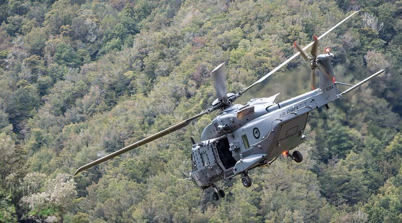 A New Zealand Air Force NH90 helicopter. NZDF photo.