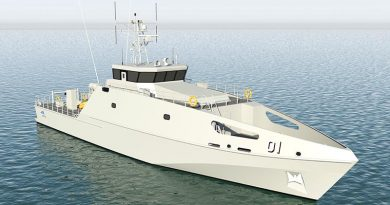 The Pacific Patrol Boat Replacement Project is an Australian security initiative that aims to enhance practical maritime security cooperation across the South Pacific through the donation of patrol boats to replace an ageing fleet of boats donated to the same countries in a program that commenced in 1987. The project includes 19 or more 39.5m vessels designed and constructed by Austal in WA for delivery to up to 13 Pacific-island nations from late 2018. Construction of the first patrol boat started earlier this year. Austal image.