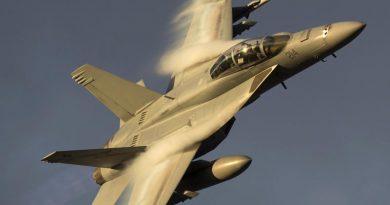 An F/A-18F Super Hornet. Photo by Sergeant Pete Gammie.