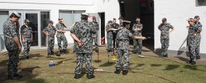 Cadets at TS Koopa learn maritime 'rules of the road'.