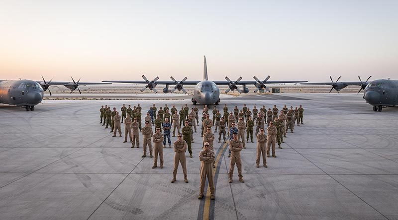New Zealand Defence Force Hercules contingent in the Middle East. ADF photo.