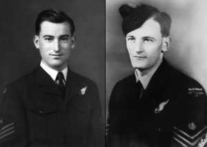 Doug Leak (left) and Mark Fry as Flight Sergeants in Bomber Command in 1944. Images supplied