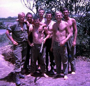 Davo, John S, Wooly, John L, me, Killer and Digger – 5 Section, 2 Platoon, 2RAR on Route 2.