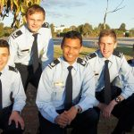 The 604 Squadron Catalina Cup Competition team (left to right): LCDT Zain Carse, CCPL Tomasz Kocimski, CSGT Michael Santos, LCDT Simon Russell and LCDT Lachlan Jenkins. Not in photo: CCPL Suyash Jain. Image by Pilot Officer (AAFC) Paul Rosenzweig