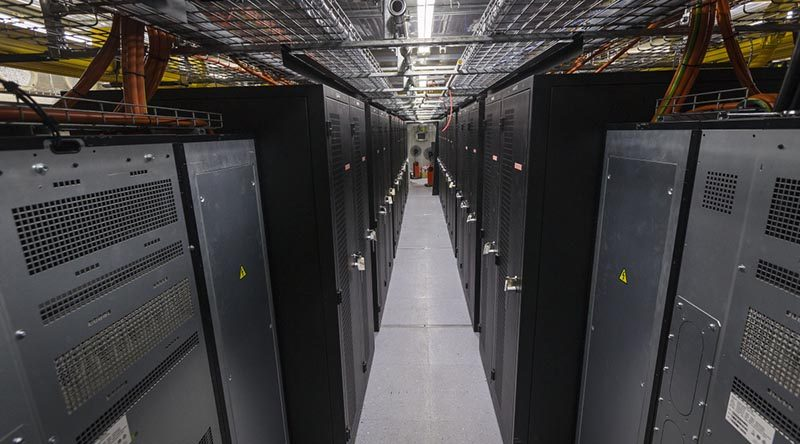 An interior view of the Containerised Data Centre at Australia's main operating base in the Middle East region. Photos by Corporal Sebastian Beurich.