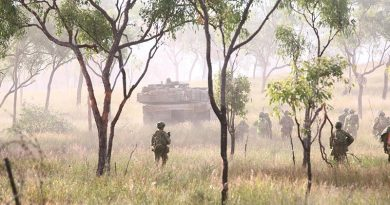 3rd Brigade live-fire attack, High Range. Photo by Brian Hartigan.