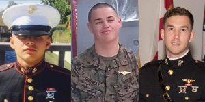 RIP – 1st Lt. Benjamin Cross, Corporal Nathaniel Ordway and Private First Class Ruben Velasco, who were killed in the Osprey crash.
