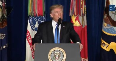 President Donald Trump outlines his new strategy on Afghanistan