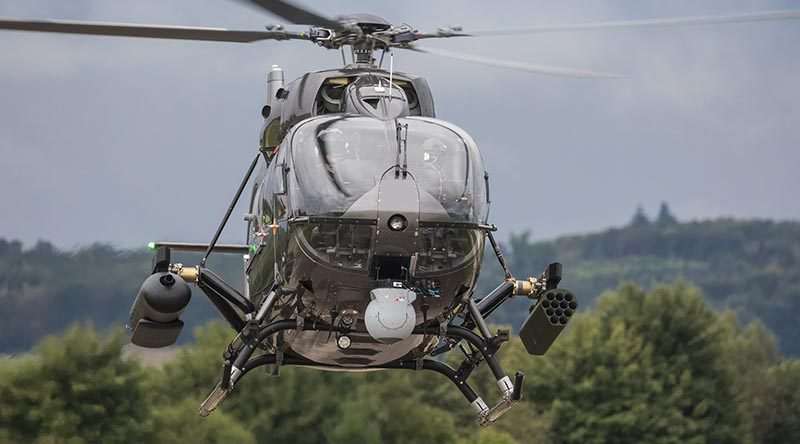 An Airbus Helicopters H145M with HForce modular weapons system fitted. Photo by Christian Keller, Airbus Helicopters.