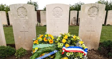 The headstone of 2nd Lieutenant Charles Maxwell Bowden of the 22nd Battalion, Australian Imperial Force, at Dive Copse Cemetery, Sailly-le-Sec, France.