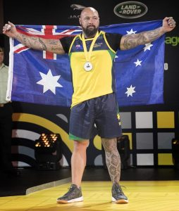 Tyrone Gawthorne – silver medal in middle-weight powerlifting. Photo by Leading Seaman Jayson Tufrey.
