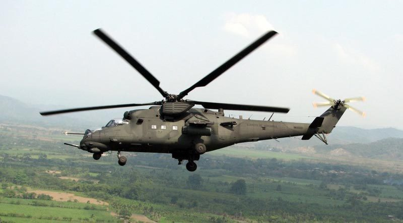 Indonesian Mi-35P helicopter.