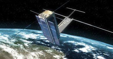 Artist's impression of a RAAF Cubesat. Image provided by UNSW-Canberra Space.