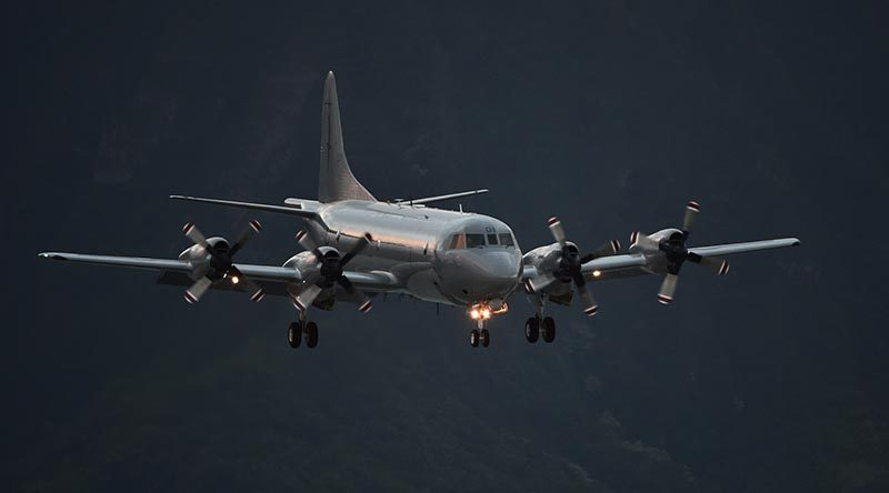 File photo RNZAF P-3K2 Orion maritime surveillance aircraft. US Navy photo by Mass Communication Specialist 1st Class Phillip Pavlovich.