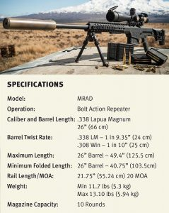 MRAD specifications