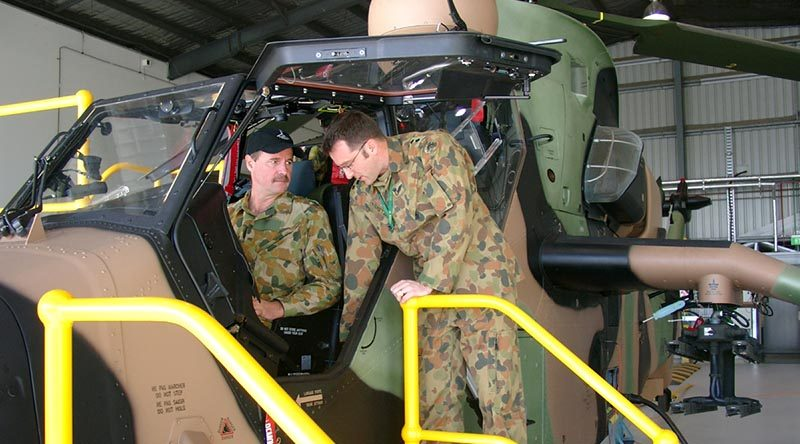 A Tiger helicopter at Oakey.